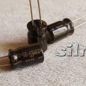 خازن آدیو 220 میکرو فاراد 25 ولت
