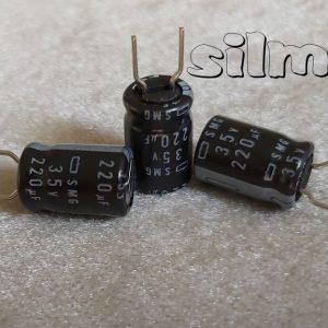 خازن الکترولیتی 220 میکرو فاراد 35 ولت