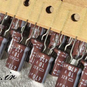 خازن 470 میکرو فاراد 10 ولت nippon