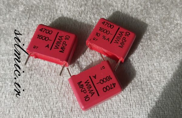 خازن های فرکانس 4.7 نانو فاراد 1600 ولت