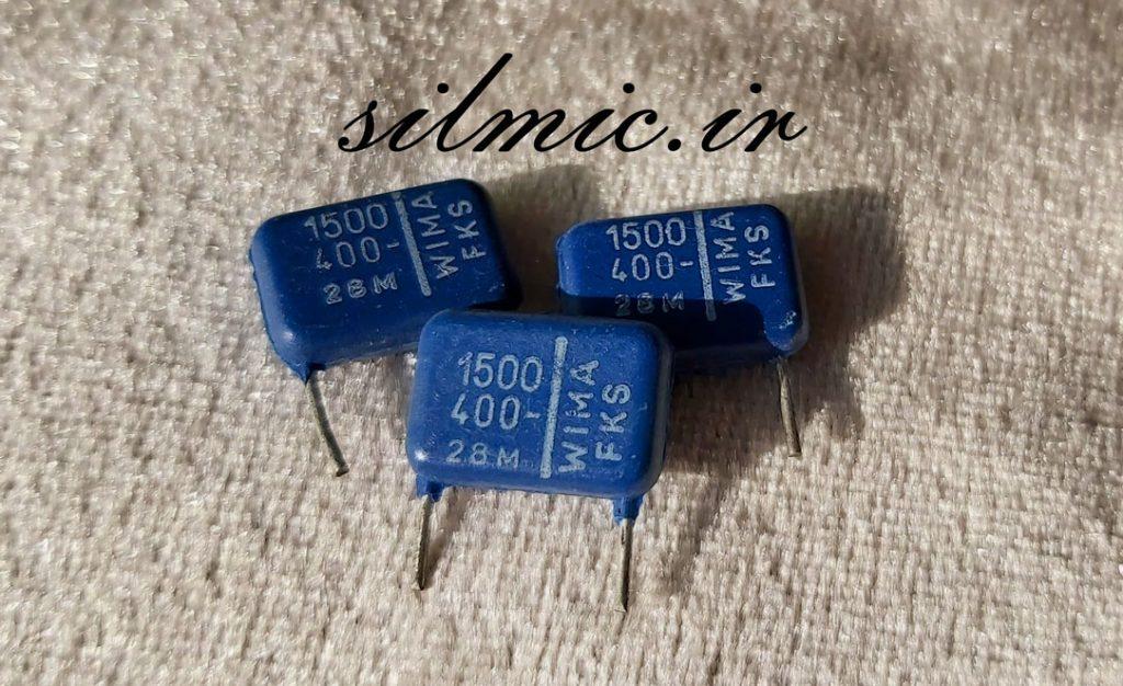 خازن کوپلاژ 1.5 نانو فاراد 400 ولت wima
