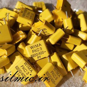 خازن 6.8 نانو فاراد 400 ولت WIMA