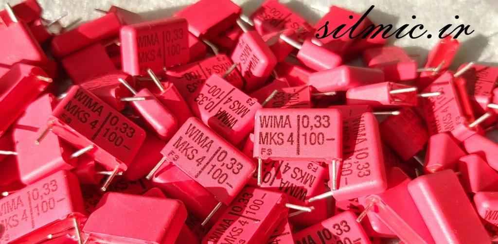 خازن 330 نانو فاراد 100 ولت WIMA
