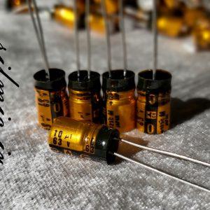 خازن الکترولیت 10 میکرو فاراد 63 ولت panasonic
