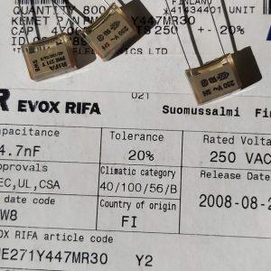 4.7nf 250v rifa pme271 capacitor