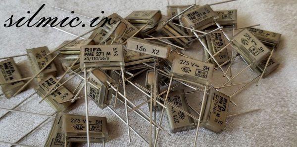 خازن کاغذی متالیزه 15 نانو فاراد 275 ولت ac