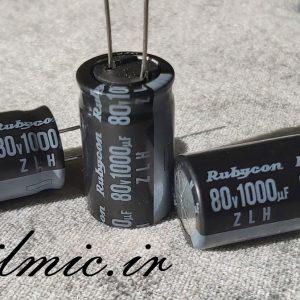 rubycon zlh 1000uf 80v ultra low esr