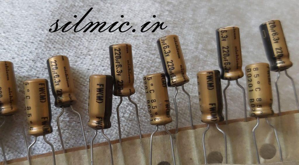 خازن 100 میکرو فاراد 6.3 ولت