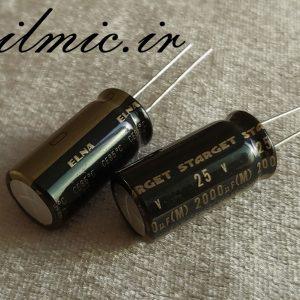 elna starget rod 2000uf 25v high grade for audio