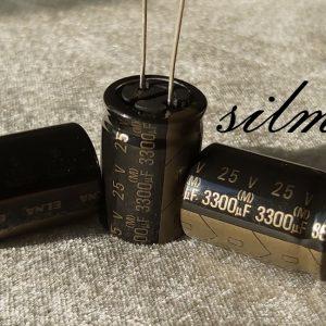 خازن آدیو 3300 میکرو فاراد 25 ولت