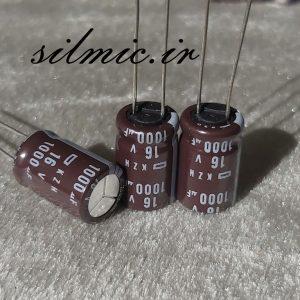 خازن الکترولیت 1000 میکرو فاراد 16 ولت