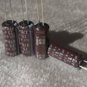خازن 470 میکرو فاراد 25 ولت