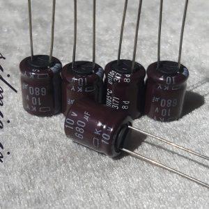 خازن 680 میکرو فاراد 10 ولت