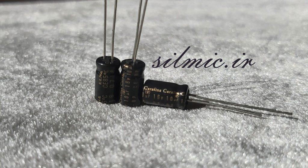 خازن بی پلار های گرید صوتی النا 10 میکرو فاراد 16 ولت