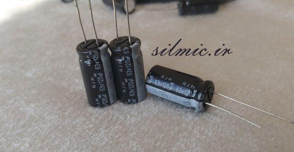 خازن 120 میکرو فاراد 63 ولت