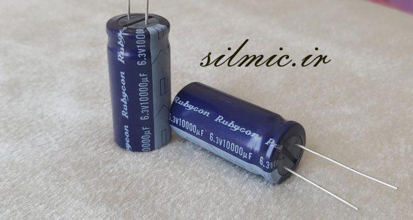 خازن 10000 میکرو فاراد 6.3 ولت