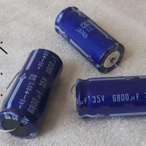 خازن اکسیال 6800 میکرو فاراد 35 ولت