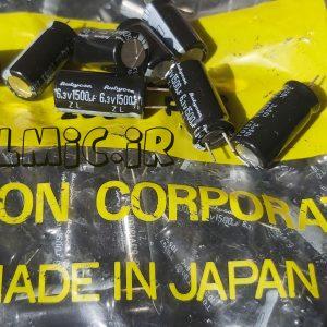 خازن 1500 میکروفاراد 6.3 ولت ژاپنی