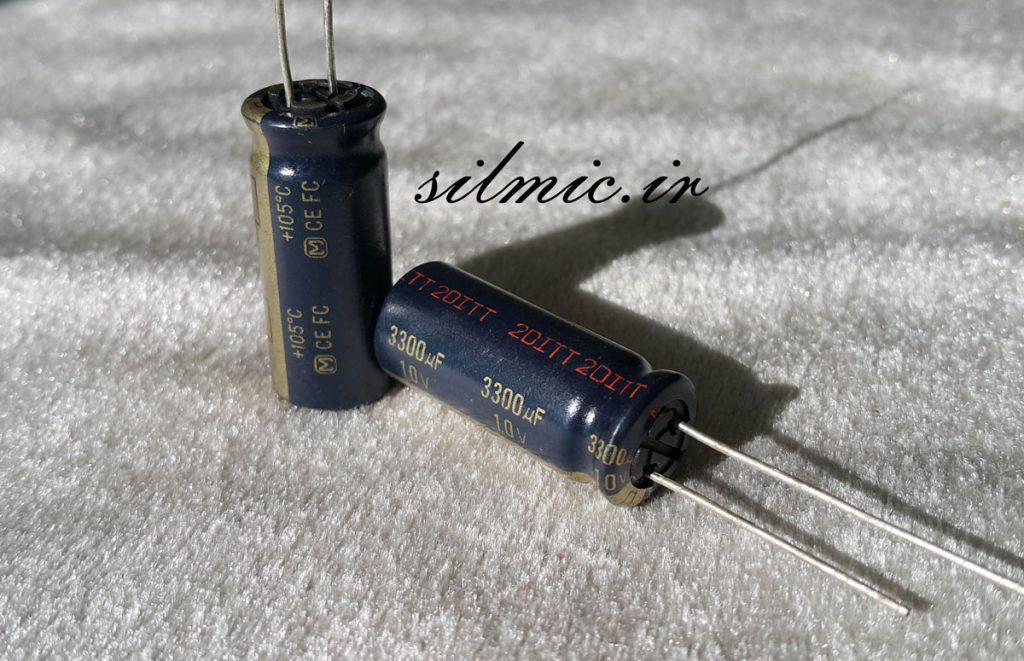 خازن های فای 3300 میکرو فاراد 10 ولت
