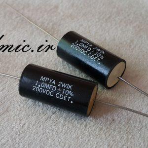 خازن 1 میکرو فاراد 200 ولت