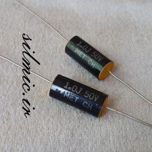 خازن اکسیال 1 میکرو فاراد 50 ولت