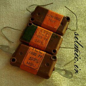 خازن سیلور میکا 1 نانو فاراد 2250 ولت