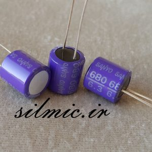 خازن جامد های فای 680 میکرو فاراد 6.3 ولت