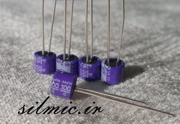 خازن جامد های فای 100 میکرو فاراد 4 ولت