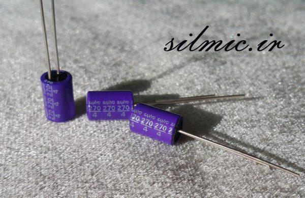 خازن جامد های فای 270 میکرو فاراد 4 ولت