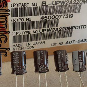 خازن 22 میکرو فاراد 100 ولت