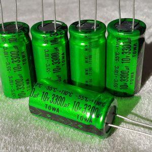 خازن ادیو 3300 میکرو فاراد 10 ولت
