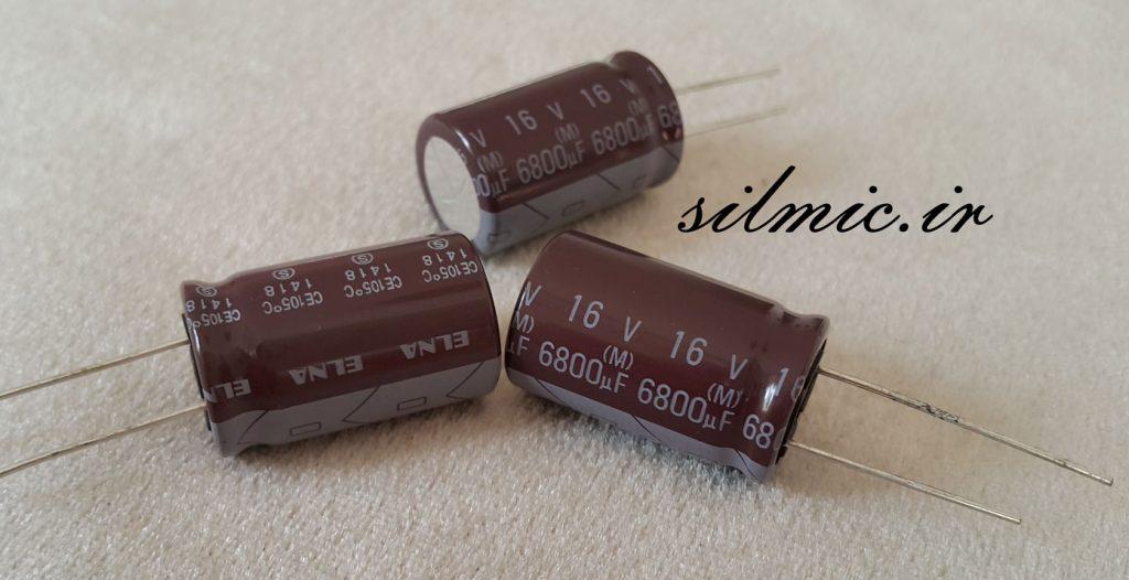 خازن ادیو 6800 میکرو فاراد 16 ولت