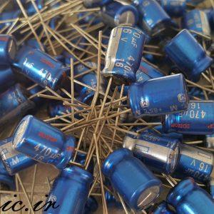 خازن 470 میکرو فاراد 16 ولت