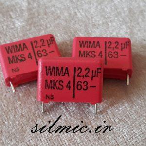 خازن 2.2 میکرو فاراد 63 ولت