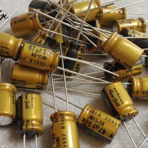 خازن 47 میکرو فاراد 50 ولت nichicon