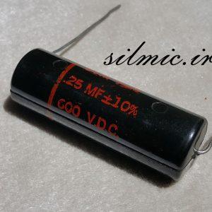 خازن افسانه ای 250 نانو فاراد 600 ولت