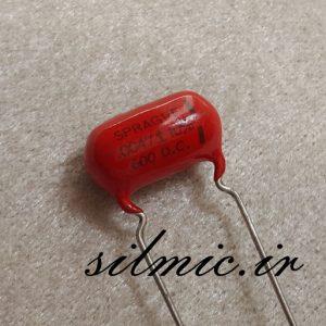 خازن افسانه ای 4.7 نانو فاراد 600 ولت