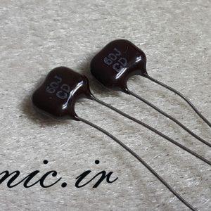 خازن سیلور میکا 60 پیکو فاراد 500 ولت