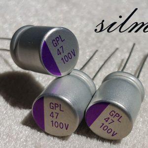 خازن جامد 47 میکرو فاراد 100 ولت