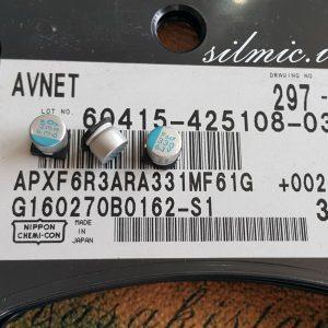 خازن پلیمر جامد 330 میکرو فاراد 6.3 ولت
