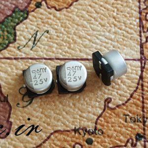 خازن 47 میکرو فاراد ۲۵ ولت SMD