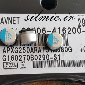 خازن پلیمر جامد 150 میکرو فاراد 25 ولت
