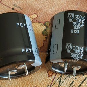 خازن 5600 میکرو فاراد 63 ولت panasonic