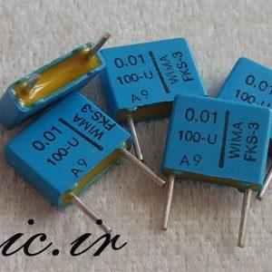 خازن کوپلاژ 10 نانو فاراد 100 ولت