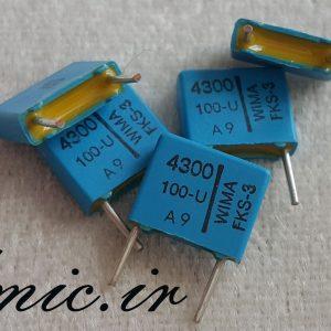 خازن کوپلاژ 4.3 نانو فاراد 100 ولت